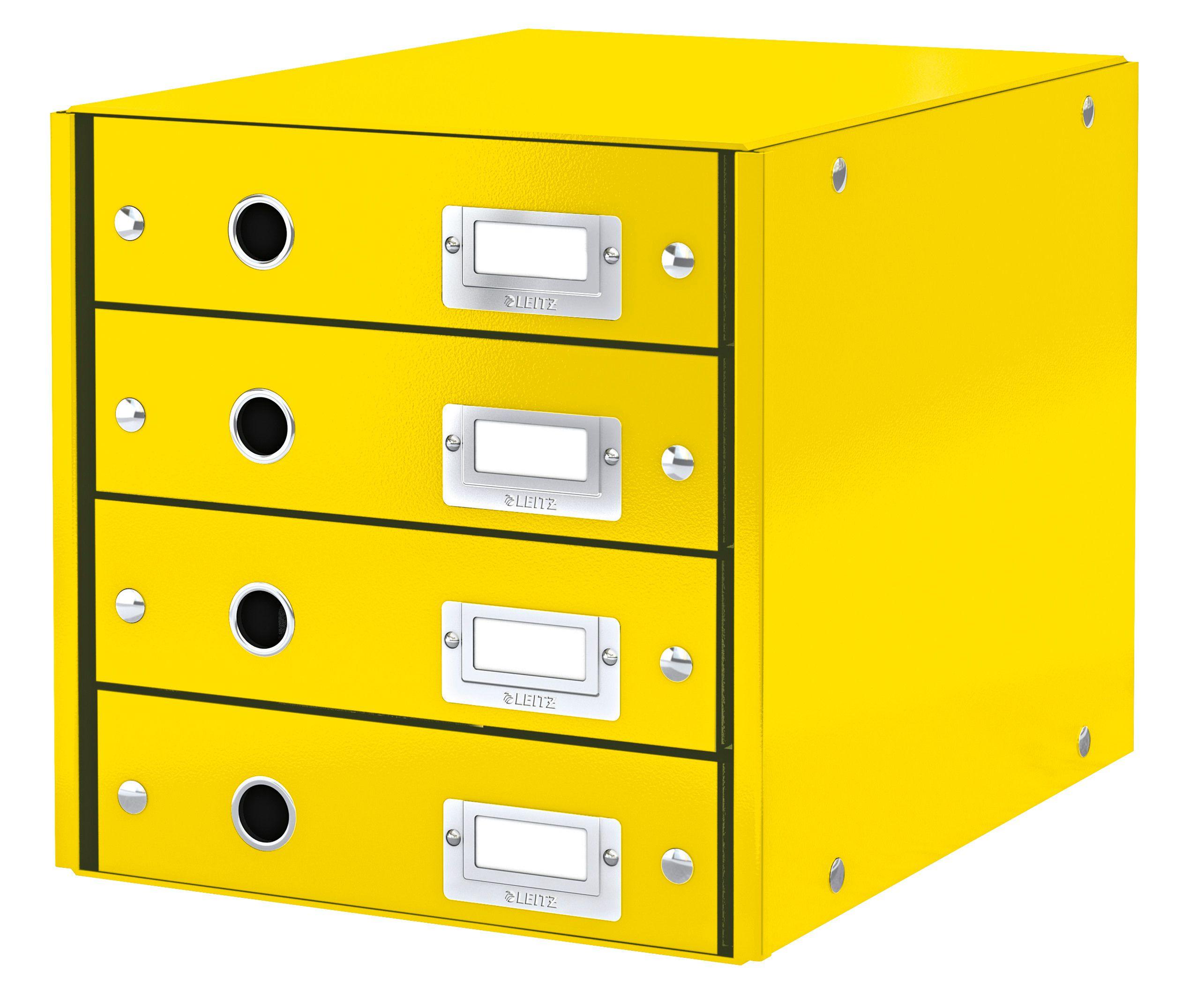 Leitz Schubladenbox 4 Schubladen 60490095 Schwarz Click /& Store A4